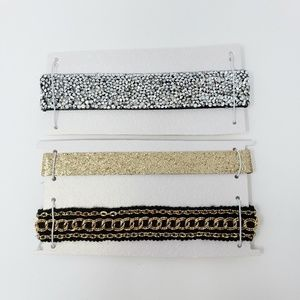 Lot of 3 Chokers Necklaces Glamorous Glitter